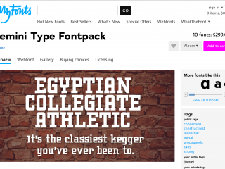 Chank MyFonts Banners